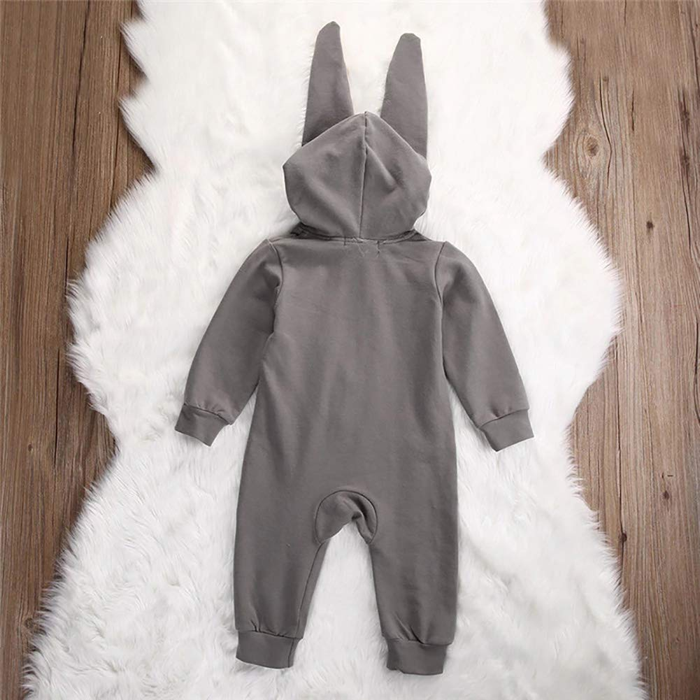 BonTime Girl Boy Hooded Romper Jumpsuit Neugeborene Baby Kids Toddler Long Sleeve Herbst Winter Rabbit Clothing Outfits