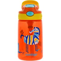 Contigo AUTOSPOUT Kids Gizmo Flip Water Bottle - Leak & Spill Proof Bottles for Home or Travel - Easy-Clean, Dishwasher Safe - Press Button for Pop Up Straw