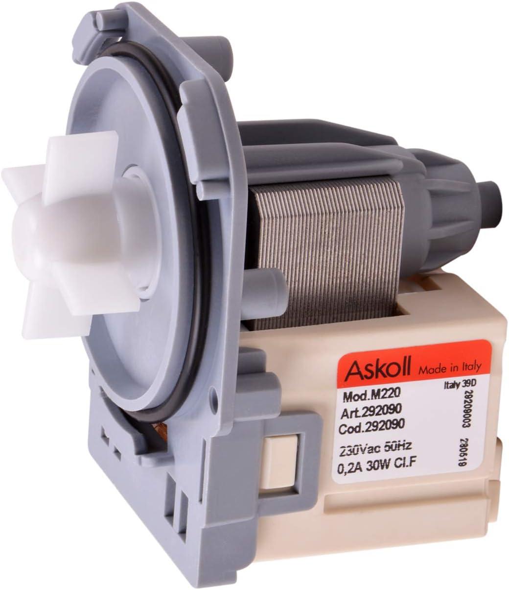 vioks Bomba Bomba Bomba de aguas residuales lavadora compatible con AEG 132069901/8