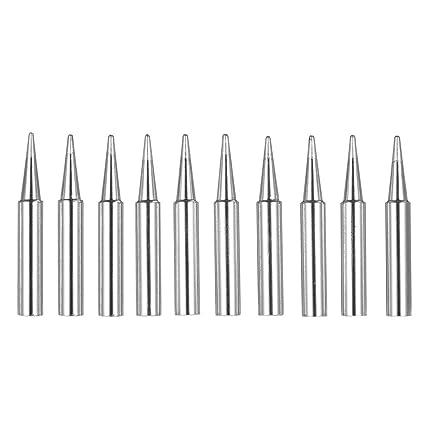 KKmoon 10 piezas sin plomo punta de soldadura Destornillador punta de hierro de reemplazo de soldadura
