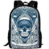 CY-STORE Graffiti America Skull Outdoor Shoulders Bag Fabric Backpack Multipurpose Daypacks For Adult
