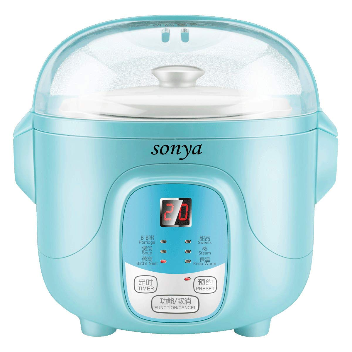 Bonus Pack Sonya Ceramic Pot Smart Electric Slow Stew Pot SY-DGD8B (Baby Blue)