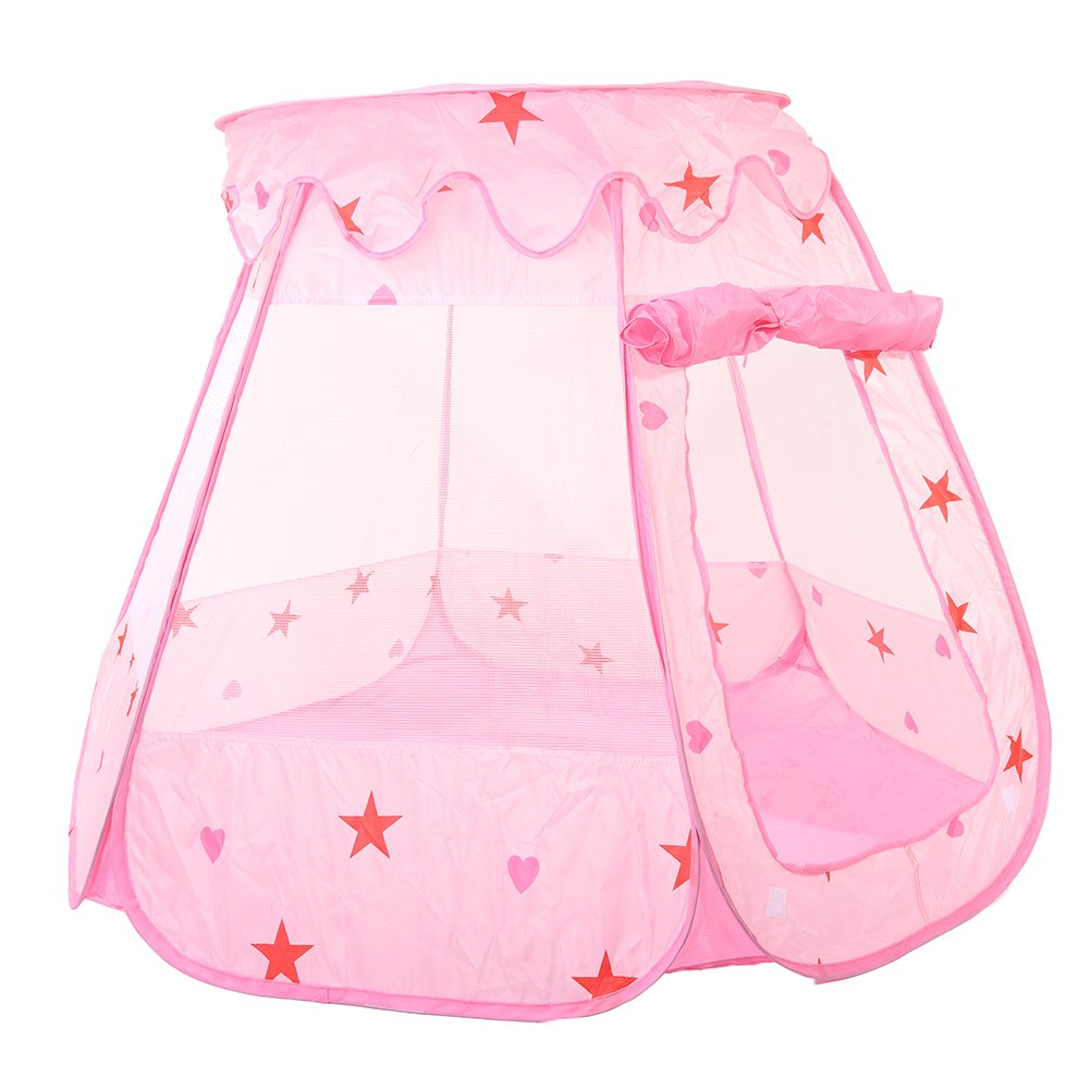 Chendongdong Children Princess Play Tent Toddler Sensory Ball Pit Play House Anti-mosquito Tents Outdoors 120 x 90 x 70CM (not include balls)