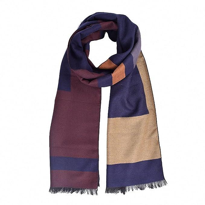 Fashion Men/'s Winter Warm Cashmere Feel Long Scarf Faux Wool Soft Wrap Shawl