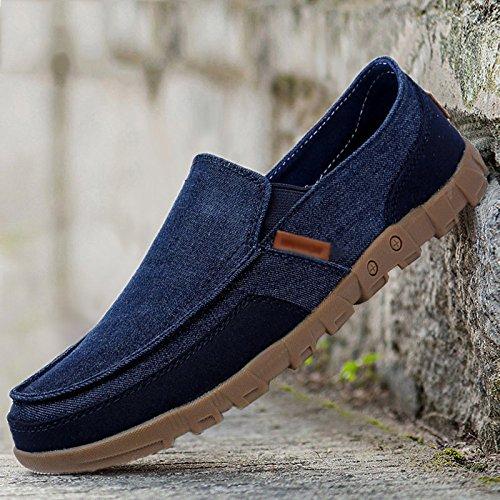 vecchie casual pigro da tela scuro marea traspirante una gamba con uomo sola da degli 3775 WFL in uomo estate scarpe stoffa Scarpe di uomo da scarpe Pechino scarpe uomini blu qHTnwnvxa