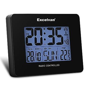 Excelvan - Radio reloj digital radio despertador radio ...