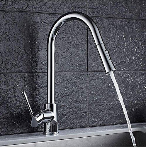 1 YAWEDA Pull Out Kitchen Faucet gold Chrome Nickel Sink Mixer Tap 360 Degree redation Kitchen Mixer Taps Kitchen Tap,3