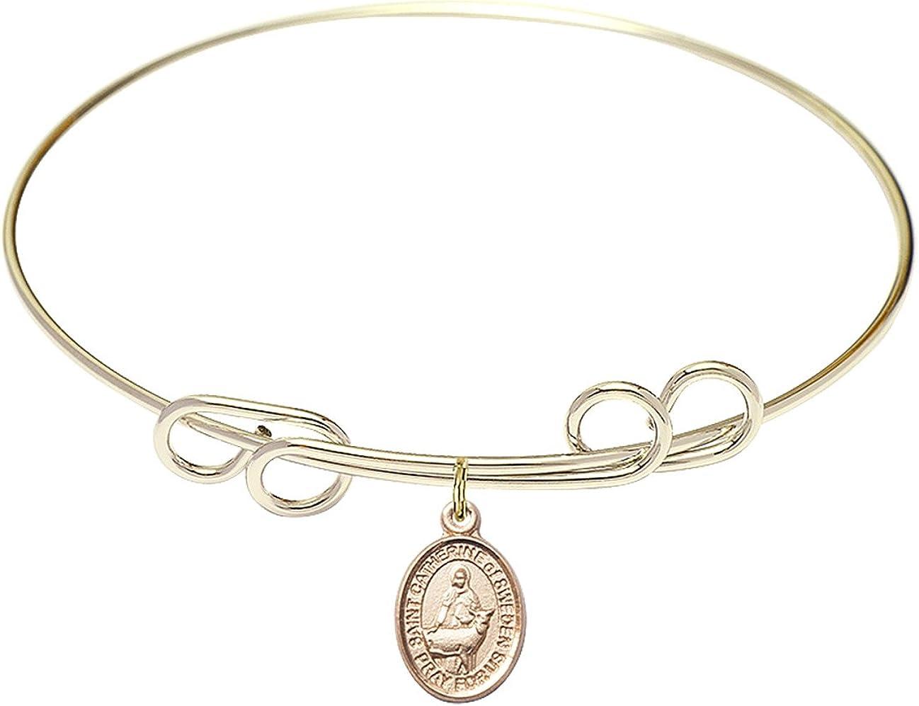 John The Baptist Charm On A 8 Inch Round Double Loop Bangle Bracelet St