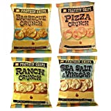quest bbq protein chips - Protein Chips, 4 Flavor Variety Pack, 10g Protein, 5g Fiber, Ranch, Pizza Crunch, Sea Salt & Vinegar, BBQ