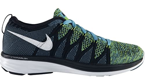 7f47af05b385e Image Unavailable. Image not available for. Colour  Nike Womens WMNS Flyknit  Lunar2-620658 401 - Blue White Black ...