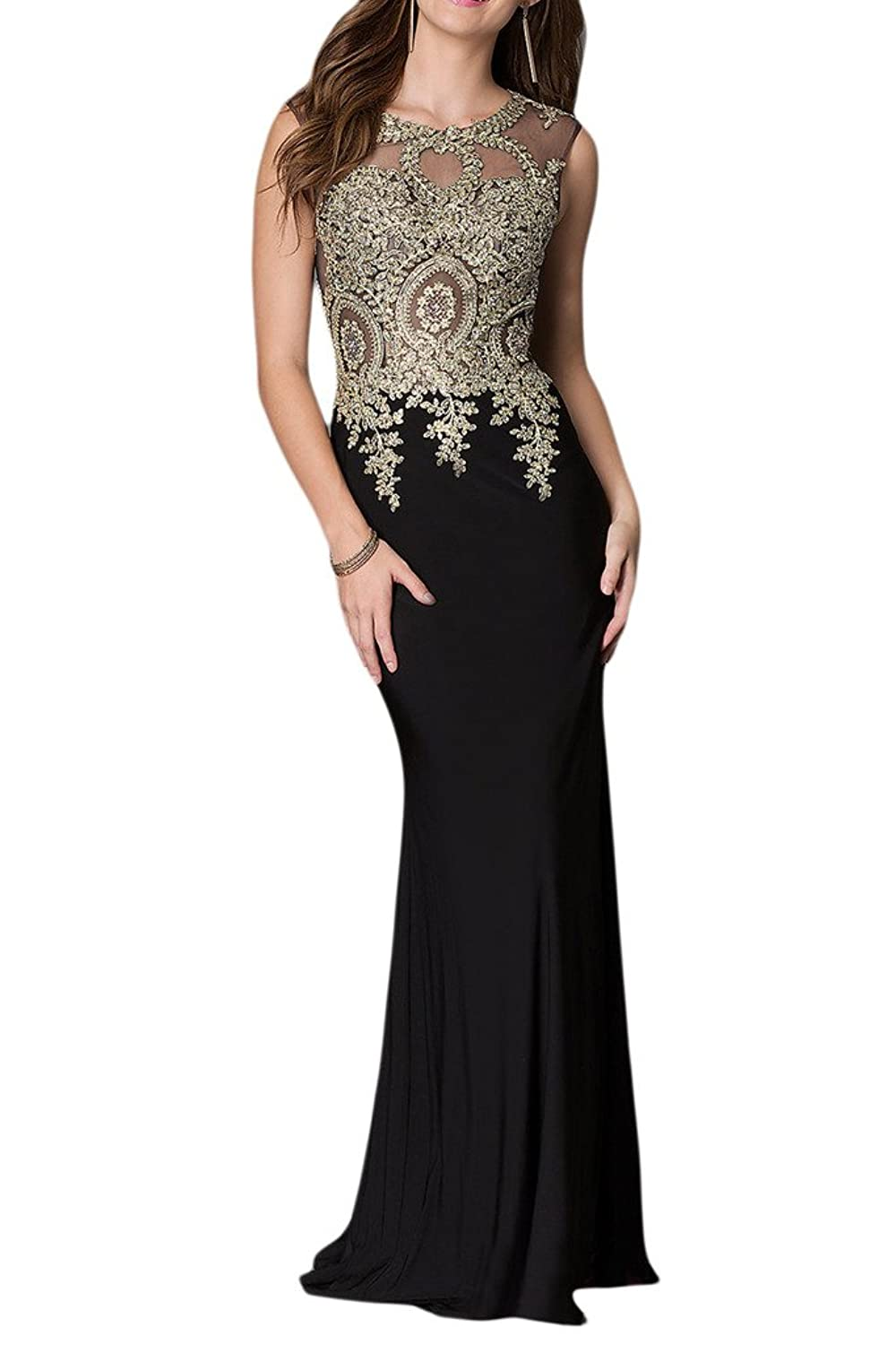 Sunvary Sheath V-Back Full Length Chiffon Evening Dresses Party Gowns