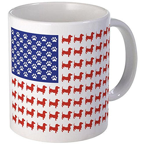 CafePress Dachshund Patriotic Unique Coffee