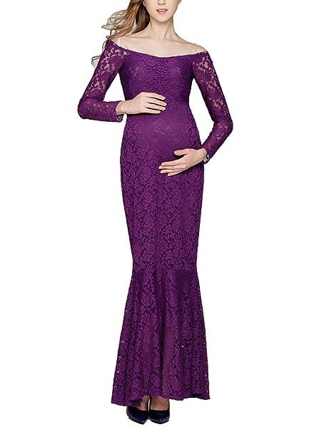 Vestido de Maternidad de Encaje - Vestido de Noche de Cóctel de Moda Vestidos de Novia