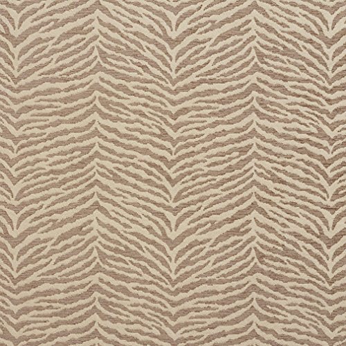 Beige Tiger Print - Beige and Tan Tiger Print Chenille Upholstery Fabric by the yard