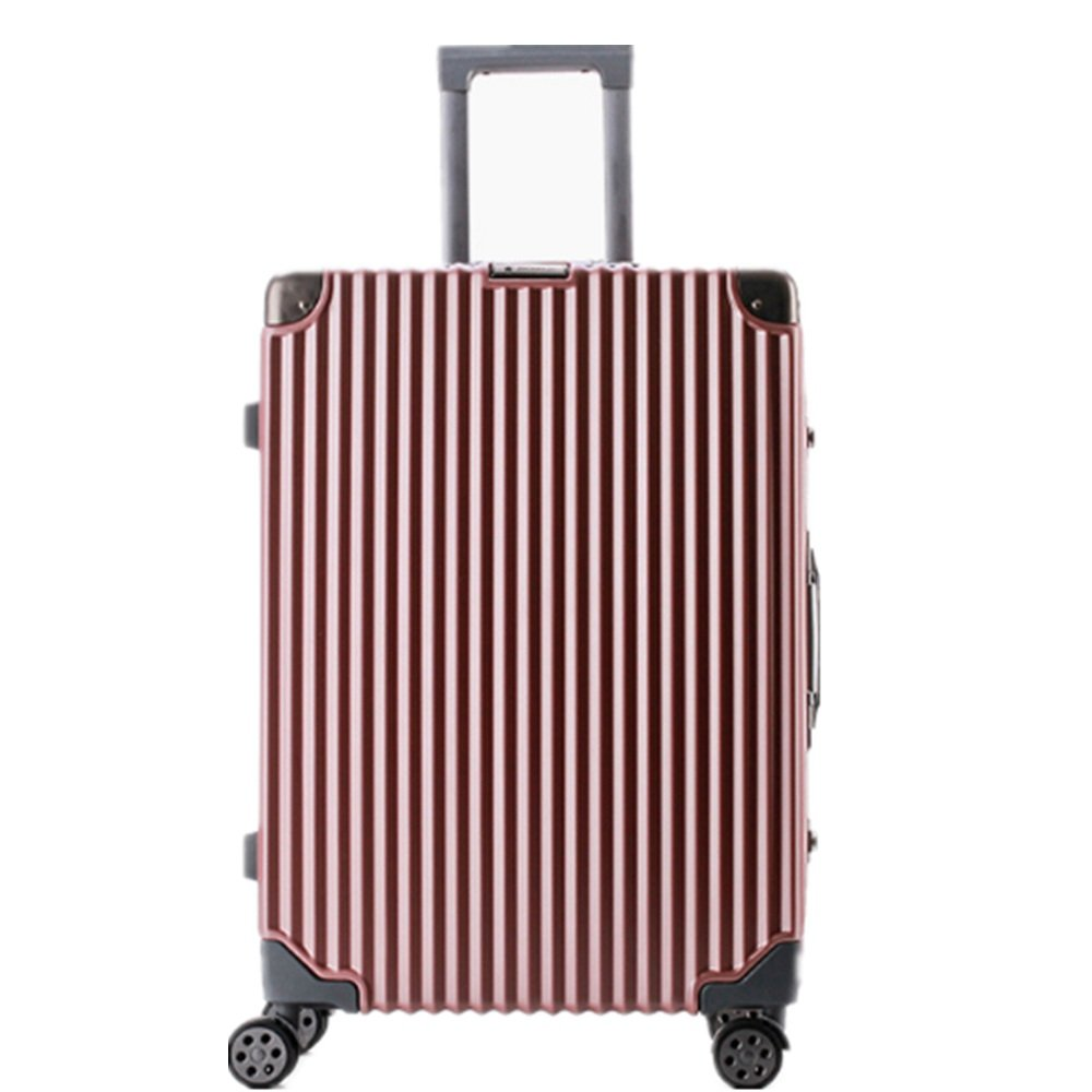 旅行用品荷物スーツケーストロリーケース プレミアム回転24インチプルロッドボックス卸売アンティークスーツケースメーカーシャーシアルミフレームカスタムロックカラーマッチングユニバーサルホイールトラベルボックス (色 : 銀) B07SWHSNRN 銀