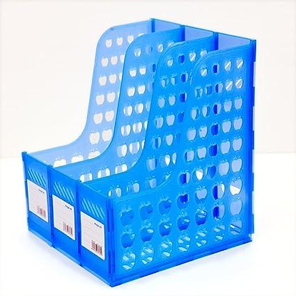 DivineXt Multifunction Plastic 3 Section Storage Hanger Divider File Paper Magazine Rack Holder Desktop Book Bookshelf