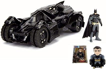 JADA 1:24 BATMAN ARKHAM KNIGHT BATMOBILE WITH DIECAST BATMAN FIGURE MODEL 98037
