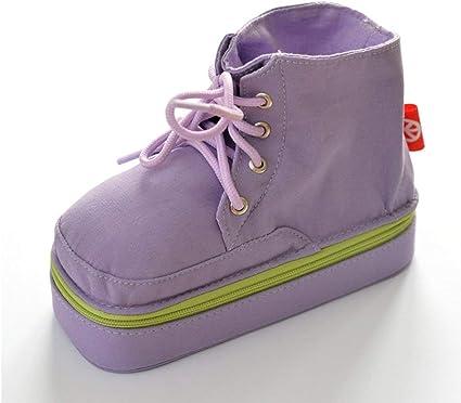 VOCAKA Martin - Estuche para bolígrafos, diseño de botas de Martin, color marrón, color morado: Amazon.es: Oficina y papelería