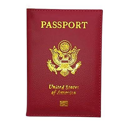 bjduck99 Leather Passport Holder Case for Travel Men Women