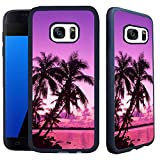 img - for [TeleSkins] - Samsung Galaxy S7 Case - Tropical Palm Trees Sunset Beach - Ultra Durable Slim Fit, Protective Plastic with Soft RUBBER TPU Snap On Back Case / Cover book / textbook / text book