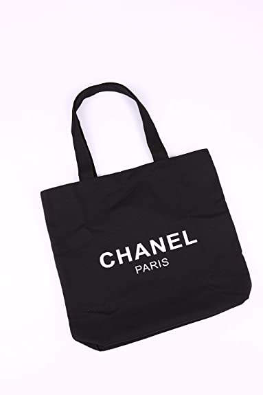 1973159b0544 【CHANEL】キャンバストートバッグ 黒 [CHANEL PARIS] レア ブランド 海外ノベルティ 【