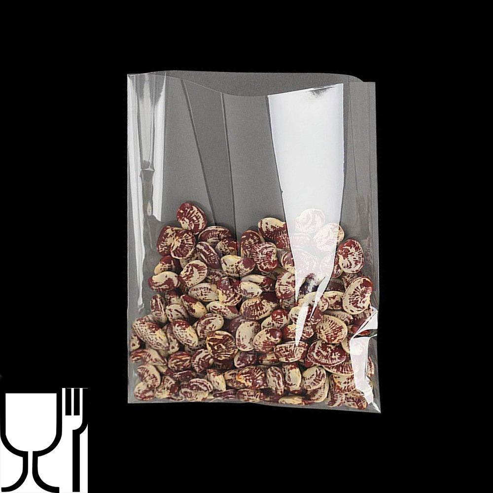 Palucart Bolsas de pl/ástico Transparente Bolsitas Bolsas 200pcs 10x15cm para Candy Favor Dulce Confeti Galletas Joyas