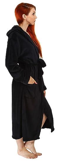 Amazon.com  Livingston Women s Hotel Fleece Terry Pocketed Bathrobe Robe  Hood 620530f8e