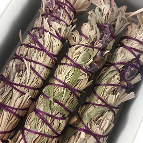 Lavender + Sage Smudge Sticks - Box of 3
