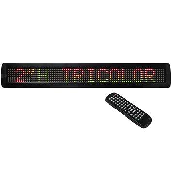 Mensaje Programable Móvil Tricolor. TEXTO LED.: Amazon.es ...