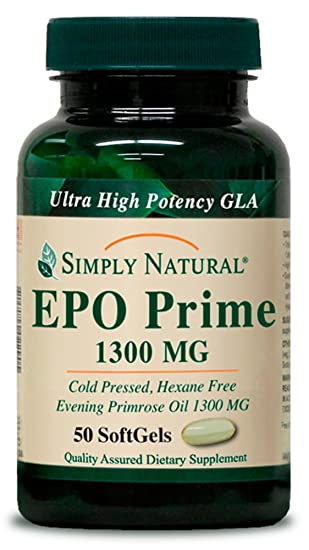 Amazon.com: Simplemente Natural EPO Prime 1300 mg, 50 ...