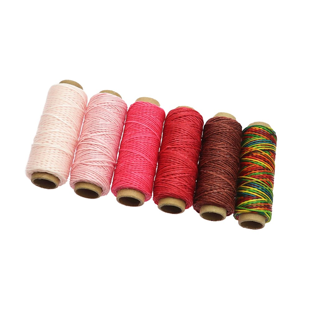 Rose Sharplace 6 Bobines Fils /à Coudre 1mm 50M Color/é Fils de Machine /à Coudre en Polyester pour Broderie et Travaux dAiguille