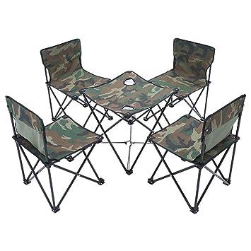 SSSSTTTT Mesas Plegables al Aire Libre Silla, mesas de Camping ...