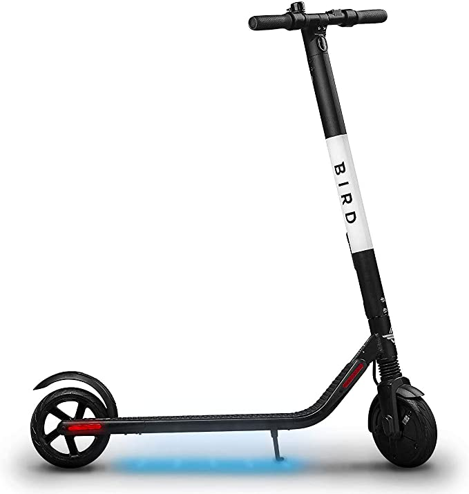 Bird ES1-300 Electric Scooter-300 Watt Motor, Ground Effect Lights, Front Shock Absorption, UL-2272 Approved, 15.5 MPH and 15.5 Mile Range, ...