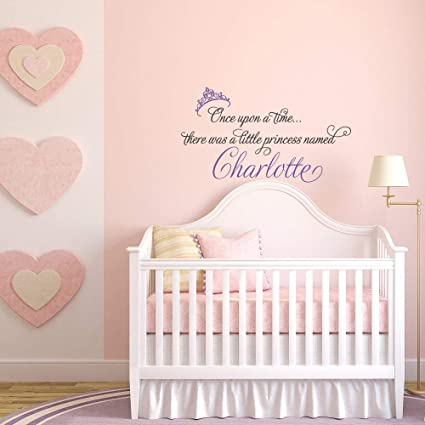 Amazon.com: Littledollz Once Upon A Time Princess Wall Decal ...