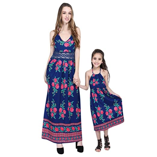 4e958c49aad5d Amazon.com: Hot Sale! Daughter Mom Matching Sling Dress Floral Boho ...