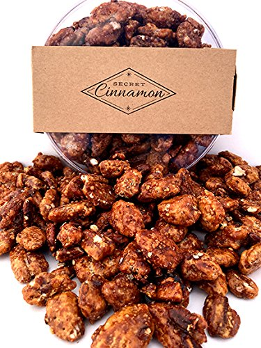 Secret Cinnamon Candid Pecans Gift Bin, Toasted Gourmet Nuts, 16 oz., (Cinnamon Toasted Pecans)