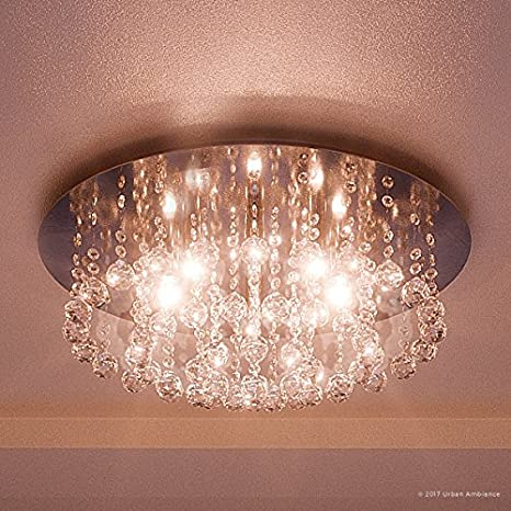 Luxury Crystal Flush Mount Ceiling Light Large Size 9h X 1975w