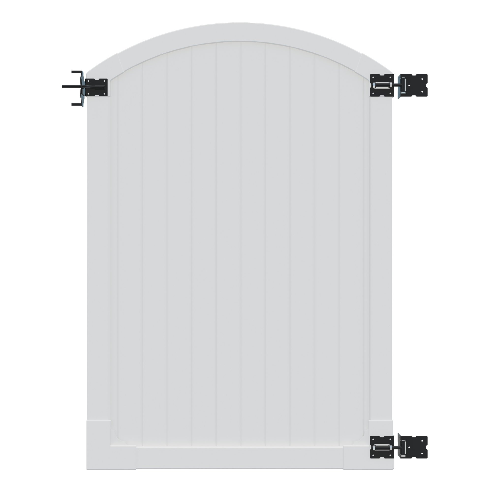 WamBam Traditional 6 by 4-Feet Premium Vinyl Arched Vinyl Gate with Powder Coated Stainless Steel Hardware