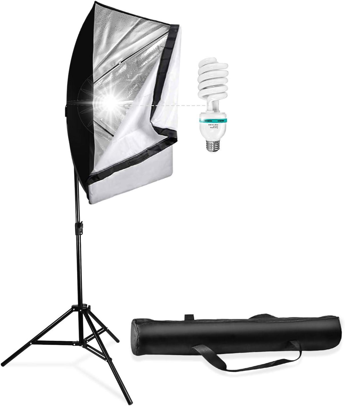 Light Holder AGG3100 Photo Portrait Shooting Daylight 78 Light Stand 6500K Lighting Bulb LS LIMO STUDIO LIMOSTUDIO 33 3-Fold Ultra Compack Lighting Flash Translucent White Soft Umbrella Kit