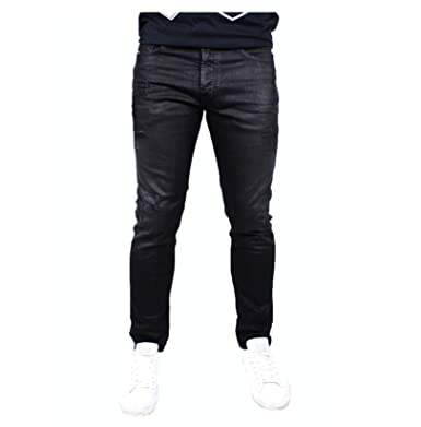 c09f724a Image Unavailable. Image not available for. Color: Diesel. Men's Tepphar  Slim Carrot Black 0671E Tapered Skinny Fit ...