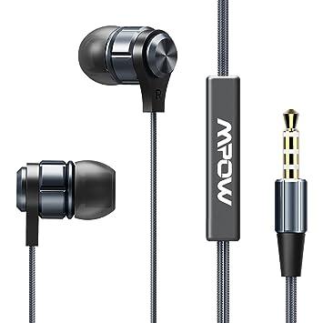 Mpow Auriculares con Cable, Auriculares iphone con Cable, Micrófono y Control de Volumen para