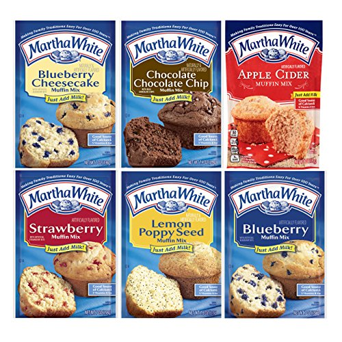 Martha White Muffin Mix Variety Sampler Pack Six Mixes Breakfast Snacks Sweet Treats by Martha White