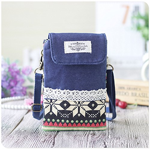Urmiss(TM) Retro and Vintage Crossbody Bags Cotton Travel Wallet Purse iPhone Case Cell Phone Holders Coin Pouches Handbag Shouder Bag Money Clip