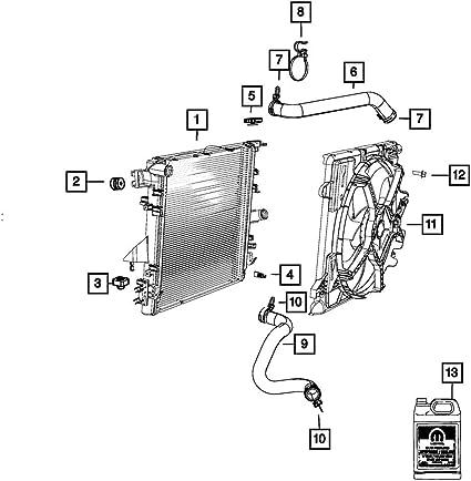Genuine Mopar Radiator Grille 5JK361W7AA