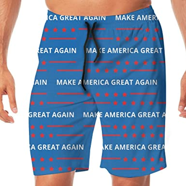 5e75e69fb0 BLACK-DO Mens Summer Make America Great Again MAGA Quick Dry Volleyball Beach  Shorts Board Shorts | Amazon.com