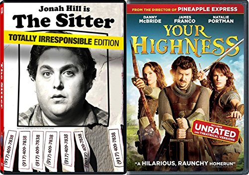 Your Highness & The Sitter Comedy DVD Set 2 Movies raunchy funny bundle
