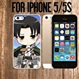 iphone 5 case custom made - Attack on Titan Captain Levi Custom made Case/Cover/skin FOR Apple iPhone 5/5S - White - Rubber Case ( Ship From CA)