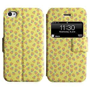 Be-Star Diseño Impreso Colorido Slim Casa Carcasa Funda Case PU Cuero - Stand Function para Apple iPhone 4 / 4S ( Simple Pattern )