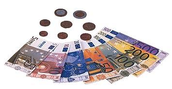 Miniland Juego didáctico Set Euro cartera 28 billetes y 80 monedas 154170