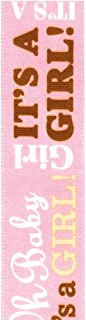 product image for Offray Baby Announcement Craft Ribbon, 7/8-Inch Wide by 25-Yard Spool, Girl